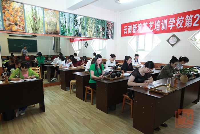 新境26期茶艺师培训课堂实拍普洱茶膏