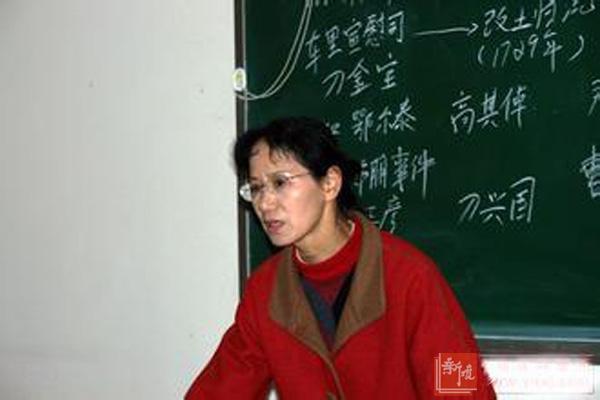 詹英佩老师讲课现场
